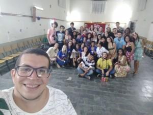 """Os/as participantes da Ampliada foram acolhidos pelo grupo """"Força Jovem"""" na Festa da Primavera"""