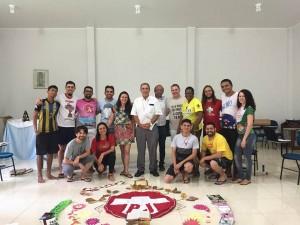 Coordenação e assessoria nacional com o bispo diocesano dom Joaquín (Foto: Arquivo Pessoal).