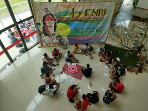 Delgados reunidos durante Leitura Orante da Bíblia (Foto: Priscila Cristina).