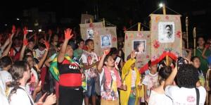 Romaria Mártires é destaque no quinto dia de ENPJ (Foto: Larissa Oliveira).