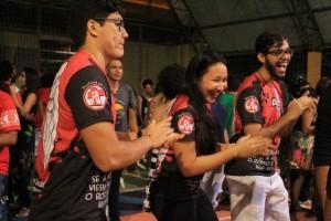 Juventude animou o evento (Foto: Larissa Oliveira).
